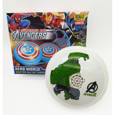 Аэромяч Hoverball Avengers NBZ LED святящийся летающий мяч Аэрофутбол Халк 18 см