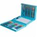 Набор для рисования и творчества с мольбертом в чемоданчике 208 предметов NBZ Art Set Blue