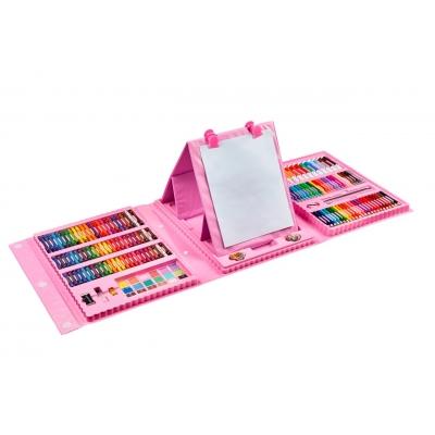 Набор для рисования и творчества с мольбертом в чемоданчике 208 предметов NBZ Art Set Pink