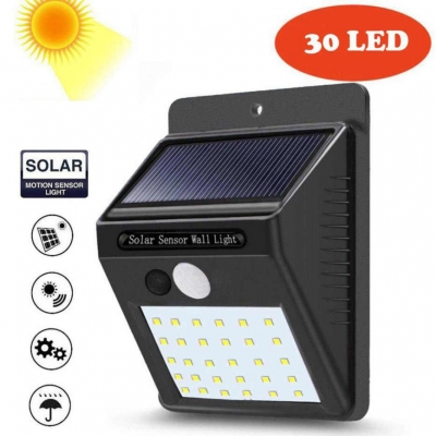Уличный светильник с датчиком движения на солнечной батарее NBZ Solar Motion LED 30