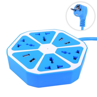 Сетевой фильтр| удлинитель 1,8 м NBZ Fruit Socket 4 розетки| 4 USB для всех видов вилок Blue