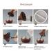 Ультразвуковой увлажнитель воздуха аромадиффузор с LED подсветкой NBZ Mini Atomization Humidifier Dark Wood