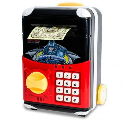 Детская электронная копилка сейф чемодан NBZ Cartoon Bank с кодовым замком Batman