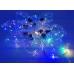 Гирлянда-штора водопад с лампами в виде сердца 10 шт Мультиколор 3х1 м