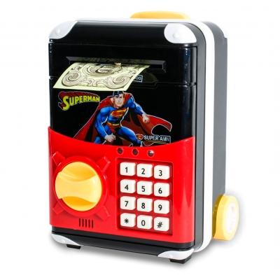 Детская электронная копилка сейф чемодан NBZ Cartoon Bank с кодовым замком Superman