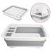 Силиконовая складная сушилка органайзер для посуды и кухонных приборов