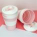 Складная силиконовая чашка Collapsible Coffe Cup 350 ml Pink| Силиконовый стакан| Складная кружка