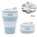 Складная силиконовая чашка Collapsible Coffe Cup 350 ml Blue| Силиконовый стакан| Складная кружка