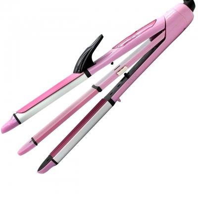 Стайлер для волос 3 в 1 Gemei/Geemy GM-2966 Pink Плойка | Гофре | Утюжок