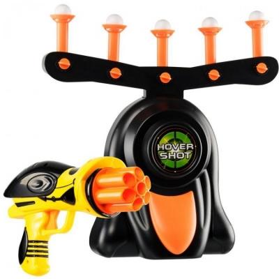 Воздушный тир детский игровой набор Disruptor Hover Shot | Пистолет с шестизарядным пистолетом и летающими мишенями