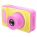 Цифровой детский фотоаппарат Smart Kids Camera детская фото-видеокамера Yellow-Pink