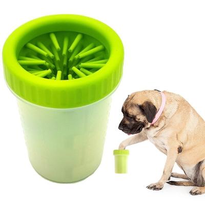 Лапомойка для собак NBZ Soft Gentle стакан для мытья лап животных 15 см Green