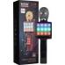 Караоке микрофон WSTER WS-1828 Black с функцией изменения голоса|FM радио, USB, TF Card, AUX| Функция записи и LED подсветка