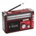 Радиоприёмник колонка с радио FM USB MicroSD и фонариком Golon RX-381 Red на аккумуляторе