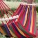 Мексиканский тканевый гамак с деревянной перекладиной подвесной 200 х 80 см для туризма и дачи Red