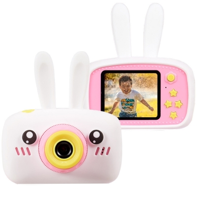 Цифровой детский фотоаппарат Children fun Camera Зайчик детская фото-видеокамера White