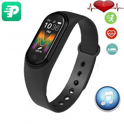 Фитнес браслет Smart Band M5 Voice Black| Встроенный динамик и микрофон, шагомер, цветной дисплей, измерение давления и пульса