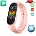 Фитнес браслет Smart Band M5 Voice Pink| Встроенный динамик и микрофон, шагомер, цветной дисплей, измерение давления и пульса