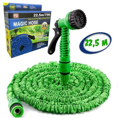 Садовый шланг для полива NBZ Magic Hose 22,5 м Green саморастягивающийся X-HOSE + Распылитель