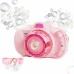 Детский фотоаппарат генератор для мыльных пузырей Bubble Camera Pink