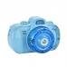Детский фотоаппарат генератор для мыльных пузырей Bubble Camera Blue