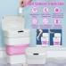 Ведро мусорное силиконовая корзина складная с сенсорной крышкой 5-10 л Smart Sensor Folding Trash Can Розовый