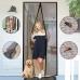 Анти москитная сетка штора для дверей на магнитах Magic Mesh 210х100 см от комаров и мух Черная