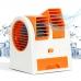 Мини Кондиционер Вентилятор Mini Fan Air Conditioning Оранжевый с охлаждением портативный очиститель воздуха для дома от USB