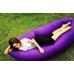 Надувной шезлонг ламзак, диван, лежак, матрас Premium GT GoodTake Фиолетовый с карманом и чехлом 2,45 м