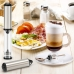 Капучинатор вспениватель для молока электрический Electric Milk с двумя насадками