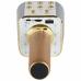 Беспроводной караоке микрофон WSTER WS-1688 NBZ Bluetooth USB AUX FM Gold