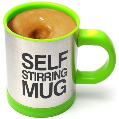 Кружка-мешалка NBZ  Self Stirring Mug автоматическая 350 мл Green