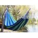 Мексиканский тканевый гамак подвесной 176 х 76 см для туризма и дачи Синий