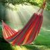 Мексиканский тканевый гамак подвесной 176 х 76 см для туризма и дачи Красный