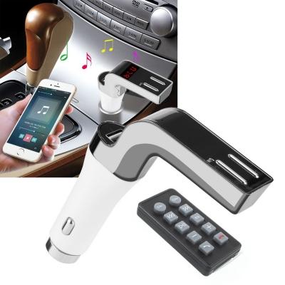 FM Модулятор ФМ Трансмиттер для авто с Bluetooth MP3 передатчик Car CM 590 с пультом Серебристый