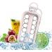 Портативная силиконовая форма для льда бутылка 2 в 1 ICE CUBE TRAY складная на 17 шариков Розовый