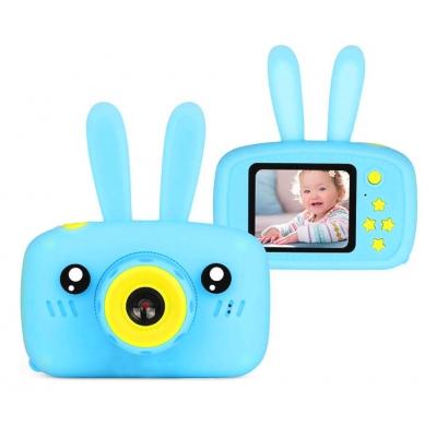 Цифровой детский фотоаппарат Children fun Camera Зайчик детская фото-видеокамера Blue