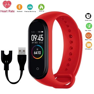Фитнес браслет Smart Band M4 Red| шагомер, цветной дисплей, измерение давления и пульса