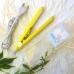 Мини плойка утюжок для выпрямления волос ProGemei GM-2990 Yellow, дорожный утюжок с керамическим покрытием