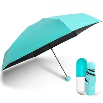 Мини зонт в капсуле NBZ Capsule Umbrella Blue карманный зонт в футляре
