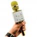 Беспроводной караоке микрофон Q7 NBZ Bluetooth USB с чехлом Gold