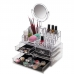 Органайзер бокс для хранения косметики NBZ Cosmetic Box с зеркалом акриловый