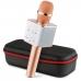 Беспроводной караоке микрофон Q7 NBZ Bluetooth USB с чехлом Rose Gold