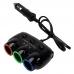 Разветвитель прикуривателя для авто на 3 гнезда Тройник NBZ + 2 USB 12-24 V