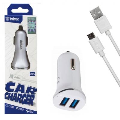 Автомобильное зарядное устройство NBZ Inkax CC-12 2USB 2.1/1A Micro-USB white
