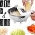 Овощерезка универсальная терка Wet Basket Vegetable Cutter NBZ друшлаг, мультислайсер