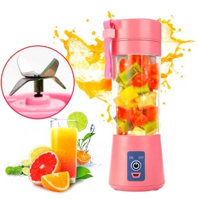 Портативный фитнес-блендер NBZ Juice Cup Smoothie Blender 4 ножа с аккумулятором Pink