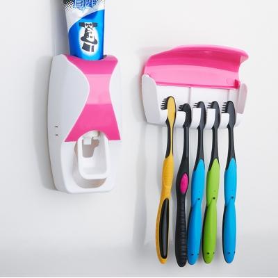 Диспенсер для зубной пасты с держатель зубных щеток NBZ Pink