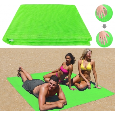 Пляжная подстилка покрывало анти-песок NBZ Sand Free Beach Mat для моря и пикника 200x150 см Green