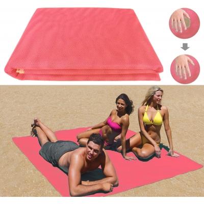 Пляжная подстилка покрывало анти-песок NBZ Sand Free Beach Mat для моря и пикника 200x150 см Pink